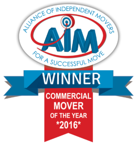Commercial removals award winner badge