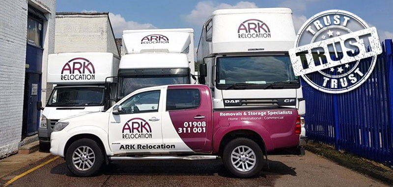 Ark Relocation Miton Keynes removals vehicles